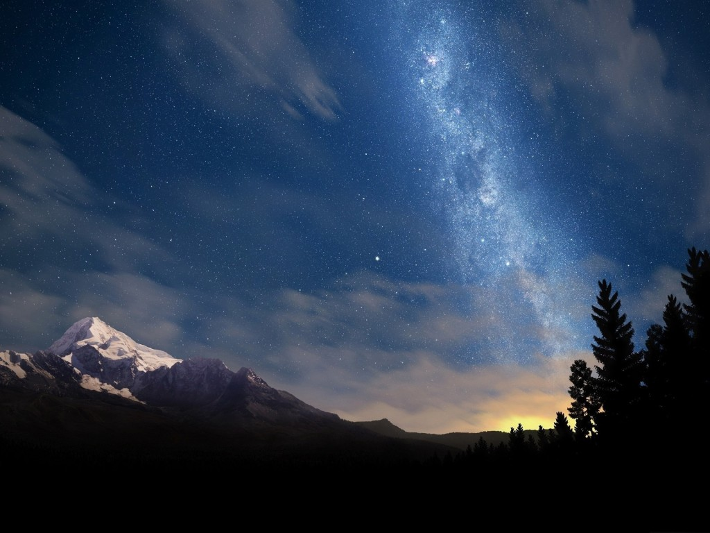starry_night_sky-Mountain_scenery_wallpaper_1920x1440