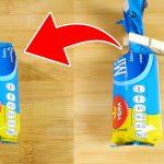 筒状のお菓子袋の閉じ方 便利ライフハック
