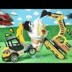 はたらくくるまがつめたいアイスクリームを作るヨ!ショベルカー救急車ホイールローダーが間違えてお菓子を作るヨ!アンパンマンのおもちゃで遊ぶ面白い子供向け動画 働く車 のりものがいっぱい出るGizmone