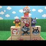 アンパンマン おもちゃ いっぱい 楽しいお話し 面白い 動画 積み木 はじめてのちびっこつみきで家を作ってあそぶ!